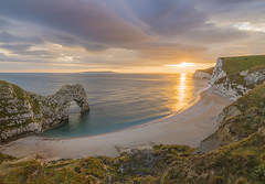Durdle Door, England (Roman Popelar) Tags: wow durdle door dorset england great britain uk sunset white cliff sky brilliant