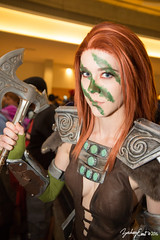 20160904-160223-5D3_0330 (zjernst) Tags: 2016 aelathehuntress armor atlanta axe bethesda boots bracers companions con convention cosplay costume dragoncon facepaint nordic skyrim theelderscrolls videogame weapon