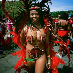 West Indian Day Parade 2016 (slightheadache) Tags: 2016 6x6 brooklyn caribbean film filmcamera laborday labordayparade mamiya mamiya6mf mamiya6 mediumformat nyc newyorkcity parade party westindian westindiandayparade westindianparade beauty butterflies butterfly tatoo tattoo red feathers