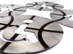 Señalética personalizada (www.omellagrabados.com) Tags: placa señal señaléctica wc aseos gravures grabados gravat engravings signal plate metal inox