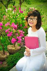 My sister (mr.zeroG) Tags: flowers portrait nikon women vietnam d90 odi nikond90