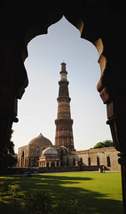 Qutub Minar, New Delhi (Mukul Banerjee (www.mukulbanerjee.com)) Tags: old sculpture india art history tourism archaeology monument beautiful architecture photography ancient nikon ruins minaret delhi muslim islam tomb landmark mosque tourist unescoworldheritagesite unesco worldheritagesite mausoleum photographs empire historical classical civilization sultan southeast dslr 14thcentury masjid cultural emperor medival newdelhi qutubminar islamic 2012 worldheritage shah qutabminar southasia d300 shahi mughal sigma1020mm mehrauli historicindia sultanate alaiminar quwwatulislam historicalindia iltutmish delhisultanate altamash imamzamin firozshahtughlaq indianheritage hindusthan alauddinkhilji qutbuddinaibak medivalindia mukulbanerjeephotography mukulbanerjeephotography wwwmukulbanerjeecom mamlukdynasty wwwmukulbanerjeecom