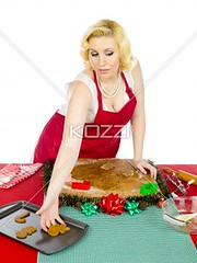 woman making christmas cookies (alahfood8877) Tags: shape beautiful beauty decoration decorations colorimage indoors season messy equipment lifestyles frontview whitebackground studioshot freshness pretty caucasian female leisure photography christmas cooking holding oneperson foodanddrink december food woman adultsonly preparing youngadult headandshoulders raw preparation tray oneyoungwomanonly domesticlife dessert cutting onewomanonly festival recipe apron dough making homemade smart sweetfood flour tablecloth 2529years attractivefemale publiccelebratoryevent kitchenworktop preparingfood choppingboard blondehair pastrycutter gingerbreadbiscuit christmascookies keeping