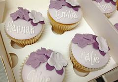Girlie Names Flower Cupcakes