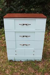 70s chest front (Its Lina) Tags: green vintage diy 60s furniture painted mint after makeover 1960s mintgreen refinished chestofdrawers sixdandylions
