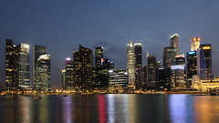 Singapore skyline (Andrew Tan 2011) Tags: nightphotography water skyline night reflections bay singapore skyscrapers financialdistrict cbd bluehour banks buidlings flickrchallengegroup flickrchallengewinner thechallengefactory thepinnaclehof tphofweek172