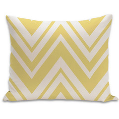 Chevron Organic Pillow in Bright Yellow and Natural 15x18 (PURE Inspired Design) Tags: customfurniture organicfabric ecofriendlyfurniture woolrugs
