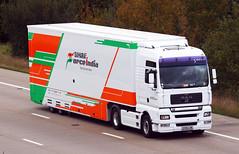 MAN TGA KX06 CXM (gylesnikki) Tags: white sahara truck f1 grandprix formulaone artic forceindia