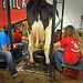 NC State dairy cows get pulled into action at the State Fair.
