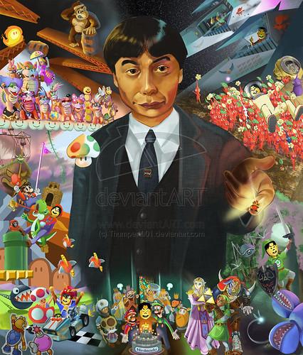 Shigeru Miyamoto, obra de Ceth Stifel