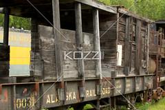 alaska railroad (jenntrans8877) Tags: wood old abandoned alaska museum train vintage ancient transportation traincar weathered boxcar trainyard outdated