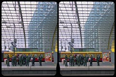 Berlin Hauptbahnhof II 3D ::: HDR Cross-View Stereoscopy (Stereotron) Tags: city urban berlin eye architecture modern radio canon germany eos stereoscopic stereophoto stereophotography 3d crosseye crosseyed europe raw cross control availablelight contemporary pair capital hauptstadt kitlens twin hauptbahnhof stereo trainstation squint stereoview metropolis remote spatial 1855mm sidebyside mitte brandenburg hdr centralstation 3dglasses hdri metropole sbs transmitter stereoscopy synch squinting in threedimensional stereo3d freeview cr2 stereophotograph crossview synchron 3rddimension 3dimage xview tonemapping kreuzblick 3dphoto 550d stereophotomaker 3dstereo 3dpicture spreeathen yongnuo stereotron