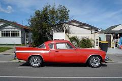 1961 Studebaker Hawk (stephen trinder) Tags: road new red christchurch usa cars landscape hawk zealand american nz studebaker kiwi 1961