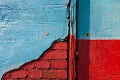 Blue, red and textures (espinozr) Tags: blue red color primavera azul pared spring rojo europe paint poland textures 75 texturas polonia wallpaint 2012 zgorzelec fav10 fav25 pinture cool7 cool8 uncool5 iceboxcool