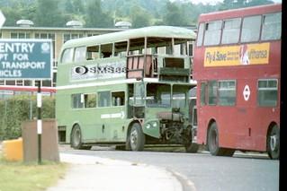 AEC Routemaster RMC1454 454CLT awaits scrapman