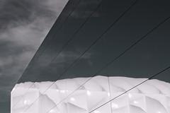 Reflection: Basketball Arena (Raj Tailor) Tags: park sky reflection london lines basketball mirror arena 7d olympic stratford muted eastlondon e15 london2012 rajtailor