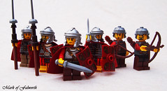 Roman troops (Mark of Falworth) Tags: war lego roman battle sword soldiers warrior warriors minifigs custom troops barbarians