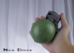 Halo Frag Grenade (Nick Brick) Tags: life 3 star lego halo size planet wars reach grenade iv sets explode frag yavin fragmentation unsc nickbrick