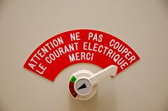 Attention ne pas couper le courant électrique