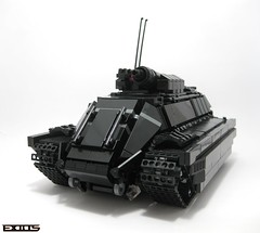 Heavy Support APC (Exius_) Tags: brick person gun tank lego tracks rail corporation mortar armor cannon vehicle soldiers hatch apc corp armour armored tow turret troops carrier stud carry troop hooks personnel armoured exo railgun faction exius