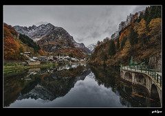 Reflections of Autumn (ghigu 74) Tags: autumn italy colors nikon piemonte valsesia d700