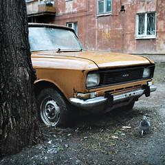 Old yard (Anton Novoselov) Tags: street old house building 120 6x6 tlr film home rolleiflex yard square medium format 35 ekaterinburg e2  ulica xenotar  vostochnaya khruschevka