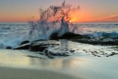 Laguna Beach Sunset (Jeremy Duguid) Tags: ocean california travel sunset sea beach nature night canon landscape evening la los rocks angeles crash dusk wave jeremy clear laguna splash 1000 irvine duguid 5dmkiii jeremyduguid