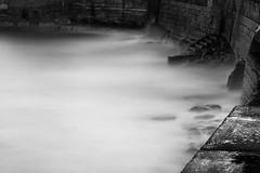 Sea Wall (Ger208k) Tags: longexposure ireland sea blackandwhite dublin mist seascape wall rocks steps dunlaoghaire bigstopper gerardmcgrath