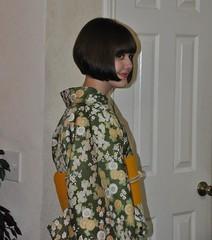 734744_3557954767180_605013740_n (Sakura2CB) Tags: green yellow hair maple blossom tabi short sunflower shorthair kimono obi geta kiku komon obijime plumb bobhaircut hanhaba
