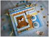 Livro do Bebê: Argola de Metal! (Le Scraft) Tags: branco azul riodejaneiro scrapbook scrapbooking rj scrap menino niterói urso bege álbum ursinho álbuns álbumdobebê livrodobebê lescraft