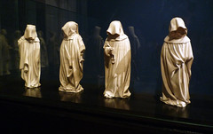 Claus Sluter and Claus de Werve, Mourners from the Tomb of Philip the Bold, four figures