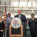 Governor Pat Quinn delivers remarks highlighting the installation of automated external defibrillator (AED) devices on Metra rail cars.