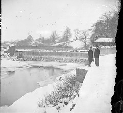 Weir on the River Dodder below Orwell Bridge (National Library of Ireland on The Commons) Tags: ireland dublin snow ice river 19thcentury sawmill orwellbridge weir stereoscope dodder leinster sawmills rathgar johnlawrence nationallibraryofireland stereopairs riverdodder waldrons lawrencecollection