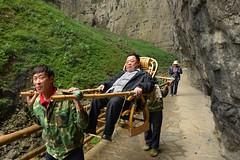 China's new elite (mein_bilderbuch) Tags: china sedan landscape chair nikon chongqing karst southchina wulong geopark nouveauriche 1424mm