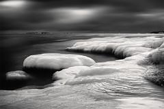 Another World (Vesa Pihanurmi) Tags: winter sea blackandwhite seascape ice nature water monochrome clouds landscape helsinki artistic uunisaari