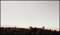 View of the Al Hambra from Mirador San Nicolas. (mysa kh) Tags: red panorama beautiful gardens landscape spain ancient view muslim palace andalucia alhambra granada viewpoint fortress mirador islamic generalife albaycin sannicolas stnicolas hamra
