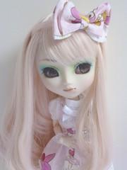 Kimiko(Pullip Prunella) (Lili-Cupcake) Tags: white cute me rose by girlfriend sweet deep sable s yeux made lolita wig kawaii pullip custom kimiko prunella tenue sbh mignonne obitsu ikuto eyeco acryliques