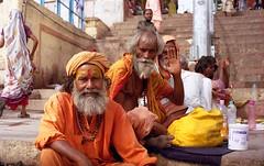 Varanasi, India (Susanna-Cole King) Tags: travel india film analog asia holy 35mmfilm varanasi hindu ganges sadu sadus