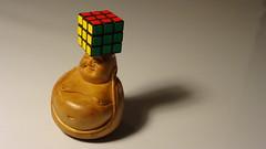 Live a Life of Balance (Kitslam's Art) Tags: life fun photo buddha hobby puzzle cube balance spiritual rubiks twisty