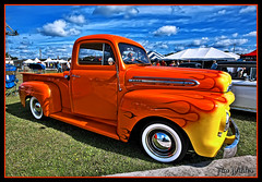 Orange-Up (Wilder PhotoArt (1,250,000 + Views)) Tags: ford truck flames pickup f1 1951