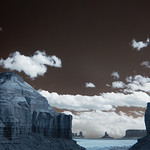 Monument Valley As Seen From Goulding's - Infrared thumbnail