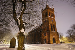 All Saints, Bloxwich 21/01/2013 (Gary S. Crutchley) Tags: bloxwich all saints church chapel of ease winter snow foreign uk great britain england united kingdom urban town townscape walsall black country blackcountry staffordshire west midlands westmidlands nikon d700 history heritage local night shot nightshot nightphoto nightphotograph image nightimage nightscape time after dark long exposure evening travel street slow shutter walsallweb nikkor 24120mm f3556 ifed afs vr cofe anglican religion christianity faith worship ice icy english civil war