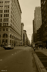 Streets of New York (photogemm) Tags: newyork streets sepia calle urbana nuevayork
