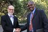 Azage Tegegne with H.E. Ambassador David Usher, Canadian Ambassador to Ethiopia