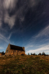 The Village of a Starlit Sky ~ Tekapo ~ (chibitomu) Tags: newzealand sky church nature clouds canon stars landscape eos tekapo   canonef1635mmf28lusm  5dmarkii mygearandme  chibitomu