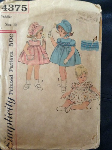 Simplicity Toddler Dress Pattern from 1962