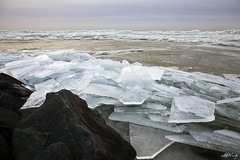 Drifting ice I (aNNaj) Tags: winter cold ice coast frozen melting pieces bevroren chunks ijsselmeer ijs koud kust brokken smelten stukken kruiendijs driftingicecoldchunks