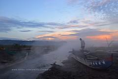 Smoke On The Water (3) (Rudy Sempur) Tags: morning lake sunrise indonesia boat fisherman asia southeastasia smoke northsulawesi sulawesi celebes gorontalo limboto northcelebes
