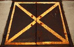 x (Benjamin F. Weaver) Tags: canon stairwell stop barrier xmarksthespot basementaccess canon5dmarkii voigtlander40mmultronf2