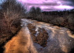 365-032 - Meltwater (BluePrince Architectural) Tags: water river landscape mud february hdr thaw flowingwater photoannum